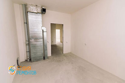 Черновая отделка кухни в однокомнатной новостройке 33 кв. м.