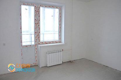 Черновая отделка спальни в двухкомнатной новостройке 39 кв. м.
