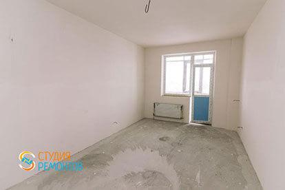 Черновая отделка спальни в однокомнатной новостройке 33 кв. м.