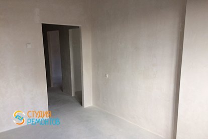 Черновая отделка кухни в однокомнатной квартире 36 кв.м. фото-2