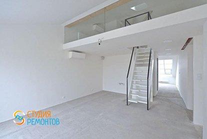 Черновая отделка двухэтажной студии 37 кв.м., фото-1