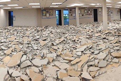 Частичный демонтаж в офисном помещении 109 м2
