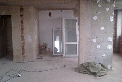 Демонтаж в квартире-студии 36 м2 под ключ