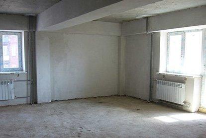 Полный демонтаж в комнате 25 м2