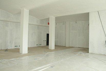 Полный демонтаж покрытий в торговом помещении 55 м2
