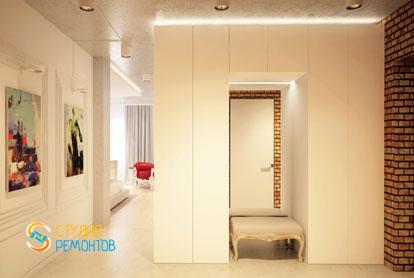 Дизайнерский ремонт коридора в однокомнатной квартире 42,5 кв.м.
