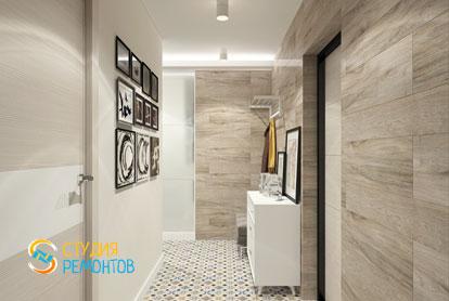 Дизайнерский ремонт коридора в однокомнатной квартире 51,5 кв.м.