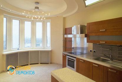 Дизайнерский ремонт кухни в однокомнатной квартире 42,5 кв.м.