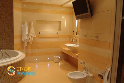 Дизайнерский ремонт санузла в однокомнатной квартире 42,5 кв.м.