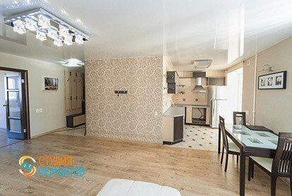 Дизайнерский ремонт кухни-гостиной в евродвушке 48 кв.м.