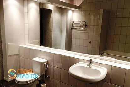 Дизайнерский ремонт санузла в 2-х комнатной квартире 53 кв.м., фото-2