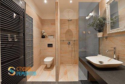 Дизайнерский ремонт санузла в двухкомнатной квартире 67 кв.м.