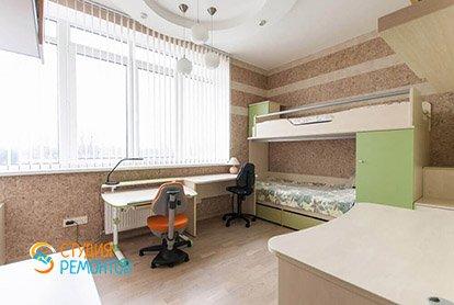 Дизайнерский ремонт детской комнаты в трехкомнатной квартире 70 кв.м.