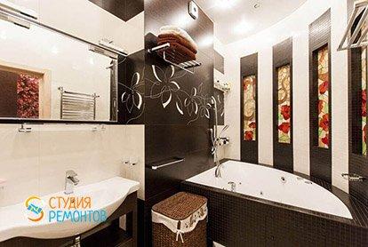 Дизайнерский ремонт санузла в трехкомнатной квартире 70 кв.м.