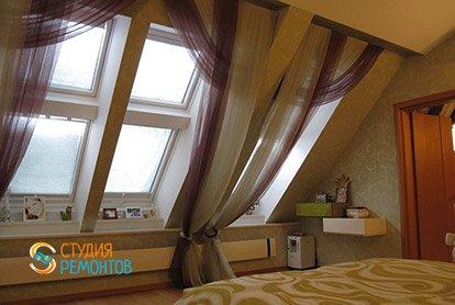 Дизайнерский ремонт спальни в 3-х комнатной квартире 73 м2, фото-2