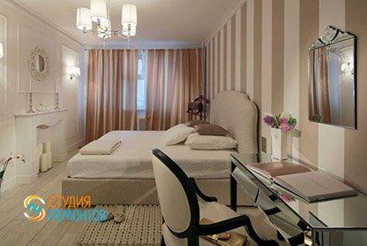 Дизайнерский ремонт спальни в трешке 71 кв.м.