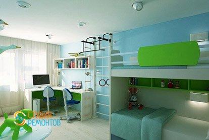 Дизайнерский ремонт детской в четырехкомнатной квартире 89 кв.м.