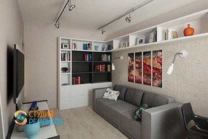 Дизайнерский ремонт гостиной в четырехкомнатной квартире 89 кв.м.
