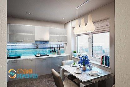 Дизайнерский ремонт кухни в четырехкомнатной квартире 89 кв.м.