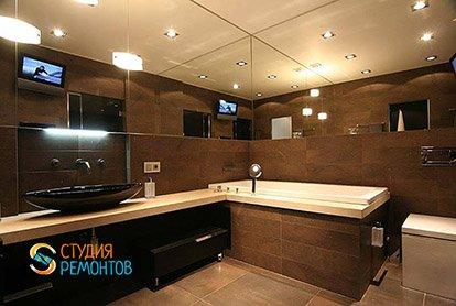 Дизайнерский ремонт санузла в четырехкомнатной квартире 89 кв.м.