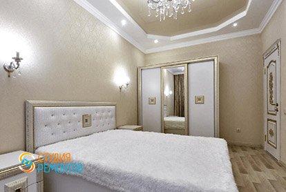 Дизайнерский ремонт спальной комнаты в 4-х комнатной квартире 86 кв.м.