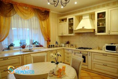 Дизайнерский ремонт кухни 13 кв.м.