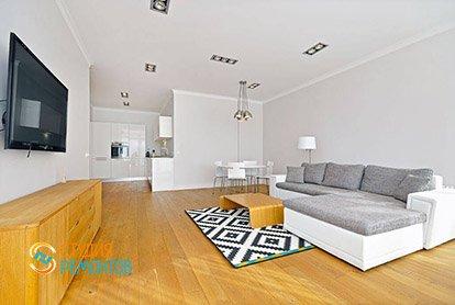 Дизайн и ремонт жилой комнаты в студии 37 кв.м., фото-2