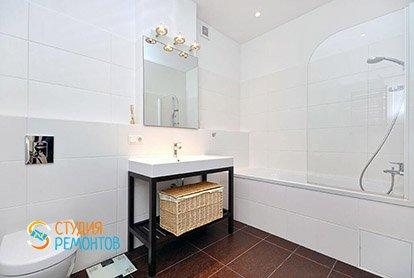Дизайн и ремонт ванной комнаты в студии 37 кв.м.