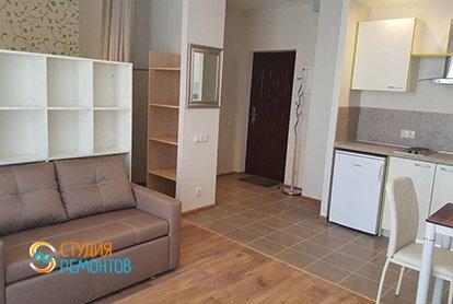 Дизайнерский ремонт комнаты с кухней в студии 31 кв.м., фото-1