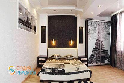 Дизайнерский ремонт спальни 18 кв.м.