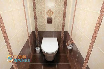 Дизайнерский ремонт туалета 2,5 кв.м.