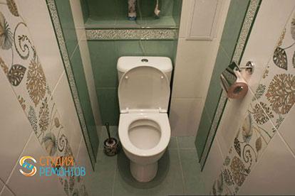 Дизайнерский ремонт туалета 1,5 кв.м.