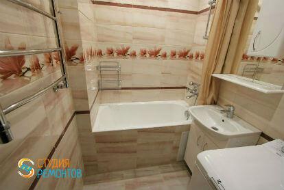 Дизайнерский ремонт ванной 3,5 кв.м.