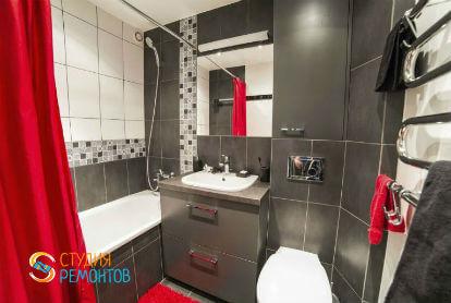 Дизайнерский ремонт ванной 5,5 кв.м.