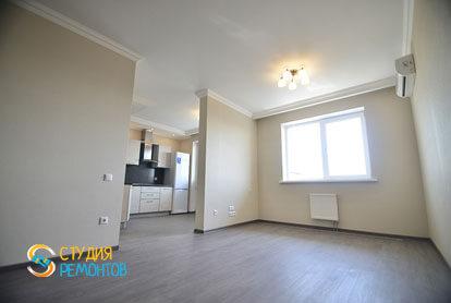 Евроремонт комнаты в однокомнатной квартире 40 кв.м.