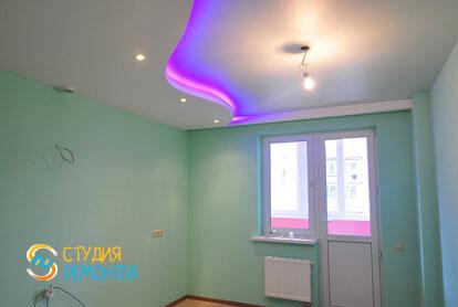 Евроремонт кухни в однокомнатной квартире 36,5 кв.м. фото-2