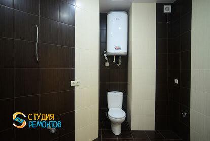 Евроремонт ванной и туалета в 1-комнатной квартире 40 кв.м. фото-1