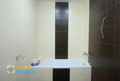 Евроремонт ванной и туалета в 1-комнатной квартире 40 кв.м. фото-2