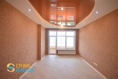 Евроремонт жилой комнаты в 1-комнатной квартире 40 м2