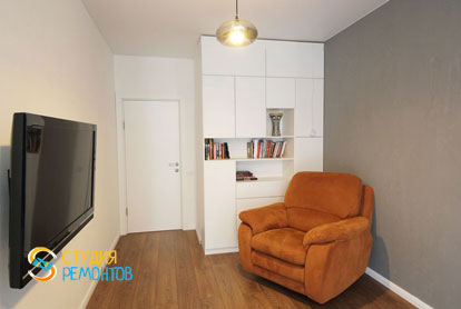Евроремонт комнаты в двухкомнатной квартире 61 кв.м.
