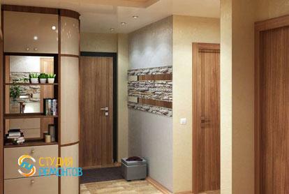 Евроремонт коридора в двухкомнатной квартире 47 кв.м.