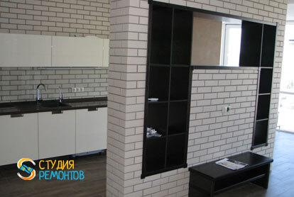 Евроремонт кухни в двухкомнатной квартире 57 кв.м. фото-1