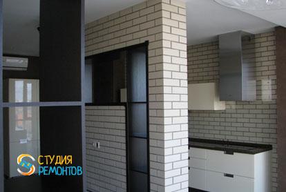 Евроремонт кухни в двухкомнатной квартире 57 кв.м. фото-2