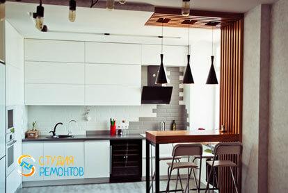 Евроремонт кухни в двухкомнатной квартире 61 кв.м.