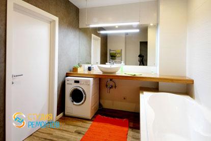 Евроремонт санузла в двухкомнатной квартире 61 кв.м.