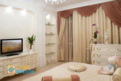 Евроремонт спальни в двухкомнатной квартире 47 кв.м.
