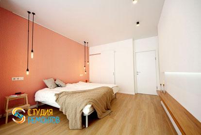 Евроремонт спальни в двухкомнатной квартире 61 кв.м.