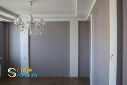 Евроремонт жилой комнаты в двухкомнатной квартире 57 кв.м.