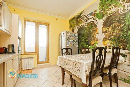 Евроемонт кухни в трехкомнатной квартире 71 кв.м.