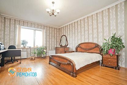 Евроемонт спальни в трехкомнатной квартире 71 кв.м.